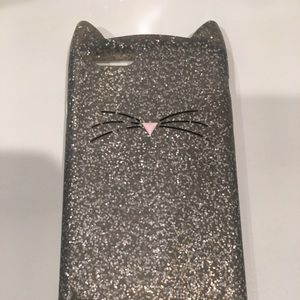Kate Spade Silver Cat Phone Case